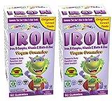 Vitamin Friends Kids Iron & Vitamins Gummy - Vegan, Organic, Kosher, Gelatin Free, Allergen Free. Supports Healthy Iron Levels without Nausea or Constipation -2 + Vitamin Friends unique merchandising.