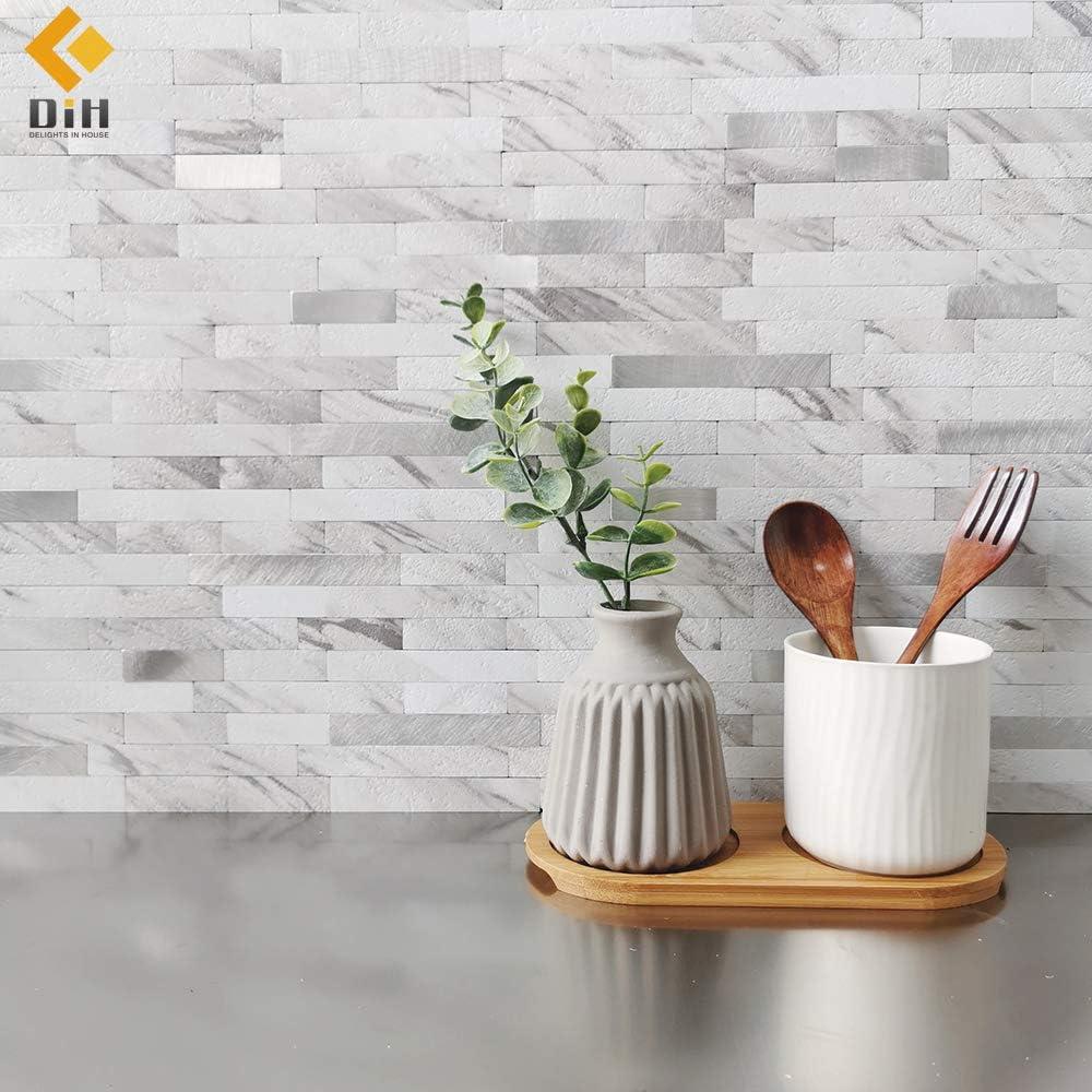 - DIH DELIGHTS IN HOUSE Peel And Stick Backsplash Tile On Kitchen