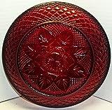"Luminarc Arcoroc Crystal D' Arques J G Durand Ruby Red Vintage Set of Three 10"" Dinner Plates"