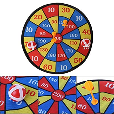 Fmingdou Sports Toys Dart Board Set Kid Ball Target Game for Children Security Toy: Toys & Games