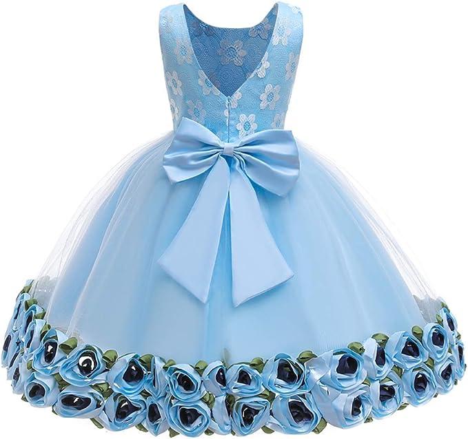 Baby Girls Kids Infant Toddler Big Bowknot Party Birthday Princess Tutu Dress