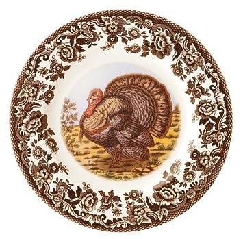 Spode Woodland Turkey Dinner Plates Set of 4  sc 1 st  Amazon.com & Amazon.com | Spode Woodland Turkey Dinner Plates Set of 4: Dinner ...