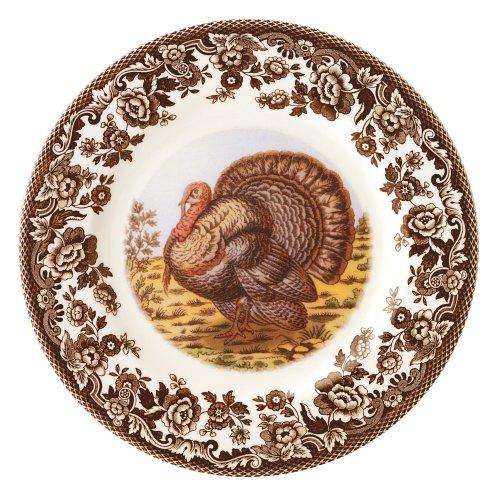 Spode Woodland Turkey Dinner Plates, Set of 4