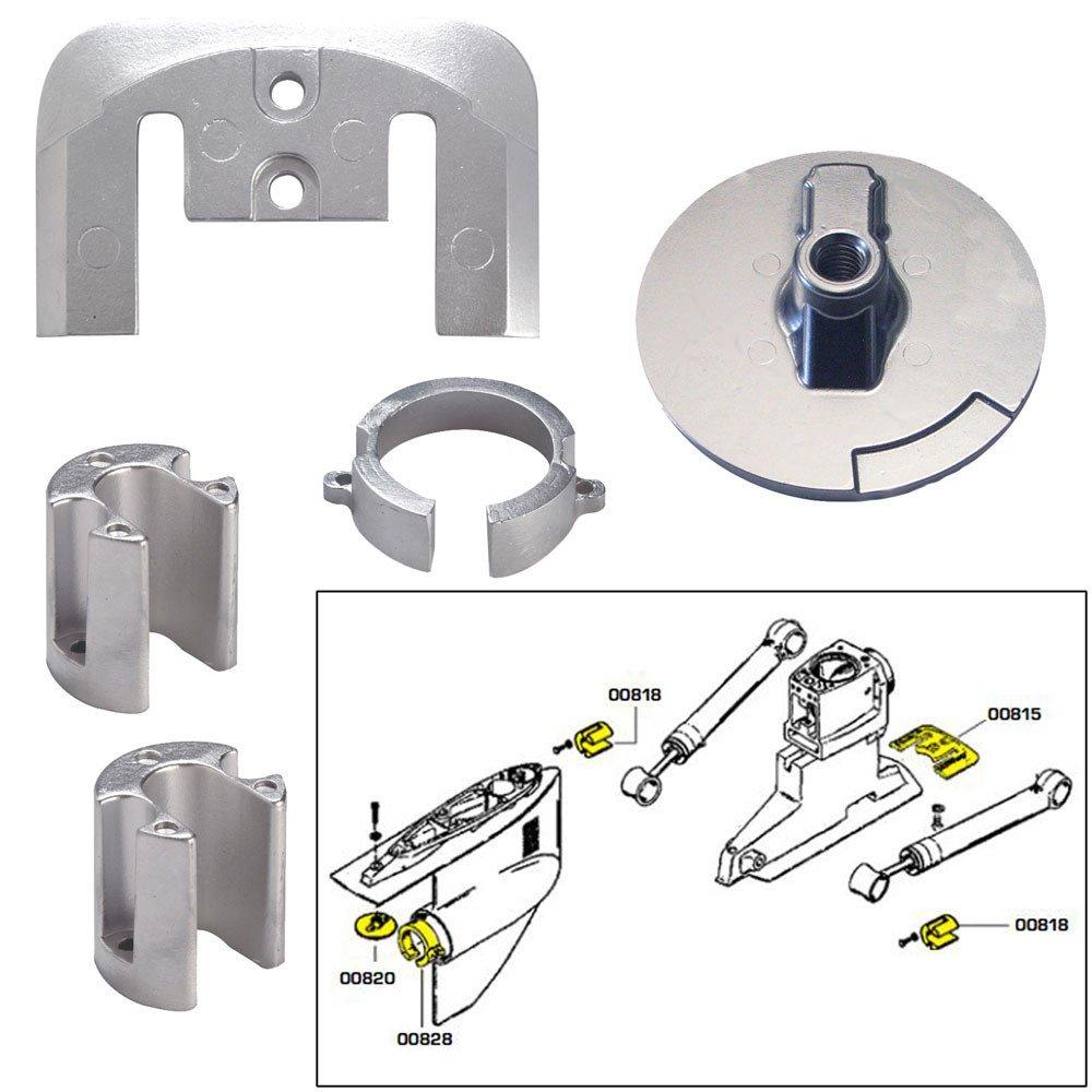 Tecnoseal Anode Kit w/Hardware - Mercury Bravo 1 - Magnesium