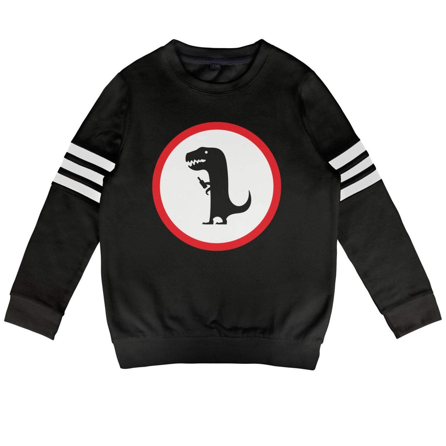 Mr Dinosaur 45 Years Daylight Kids Crewneck Cotton Long Sleeve Sweatshirt Huge Dinosaur Hooded Sweatshirt Boys Girls