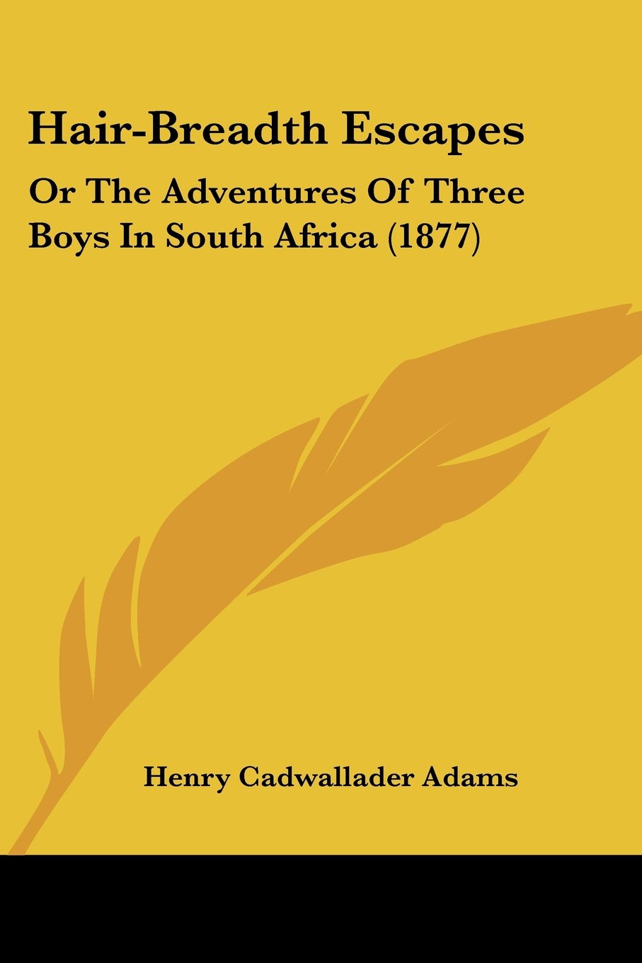 Hair-Breadth Escapes: Or The Adventures Of Three Boys In South Africa (1877) pdf