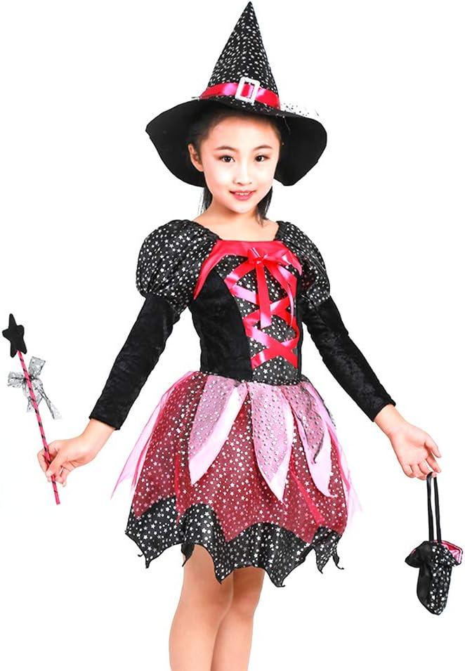 Amosfun - Disfraz de Bruja de Halloween para niños, Accesorio de ...