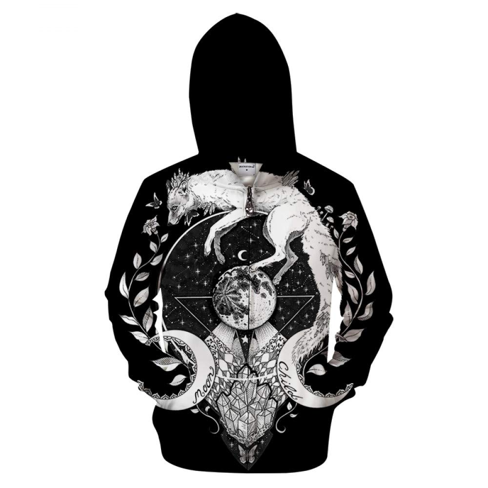QYIOAZ Hoodies Zipper Sweatshirts Trainingsanzüge Hoodies Tier Pullover