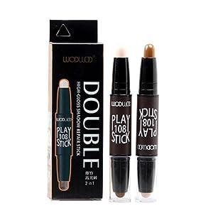Prettyuk 2 en 1 Contour &Illuminateur Bâton Double Tête Face 3D Crayon de Maquillage