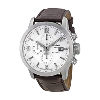 19c78d904c9 Tissot Men's T0554271601700 Automatic Chronograph and Tachymeter Sapphire  Crystal Leather Band Watch