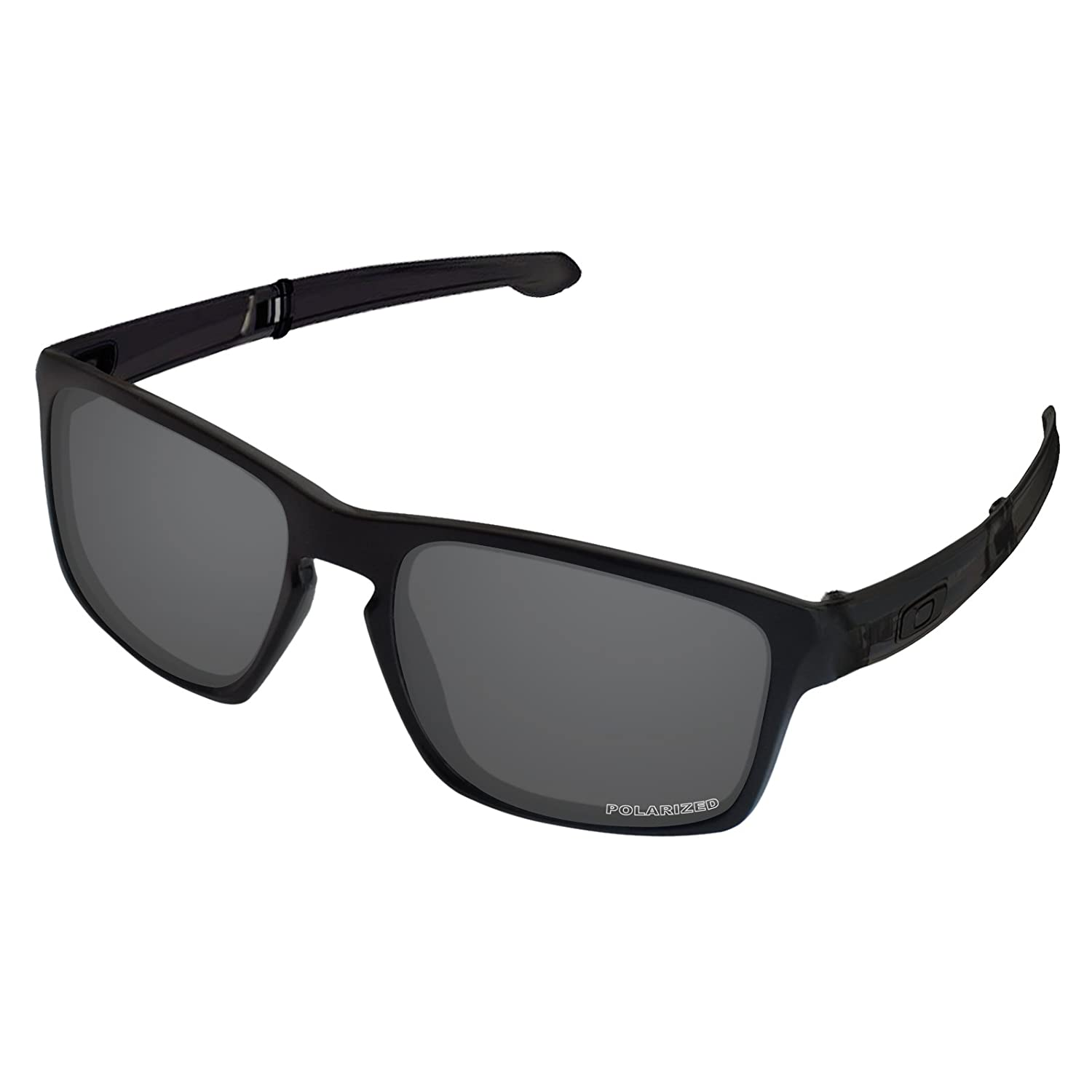 9b2ace1cf0 Amazon.com  Tintart Performance Lenses Compatible with Oakley Sliver F Polarized  Etched-Carbon Black  Clothing