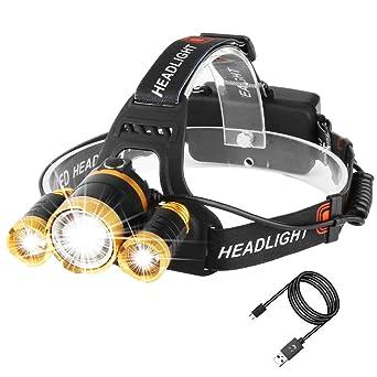 Lampe Frontale Puissante A 5000 Lumens Lampe Torche Led De Haute
