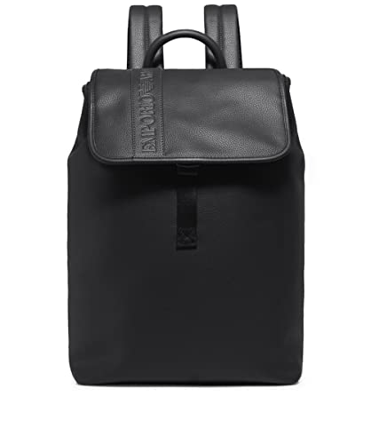 c8a2ff0c13 Amazon.com: Emporio Armani Zaino Pu Granato Black Unisex Backpack One Size:  Shoes