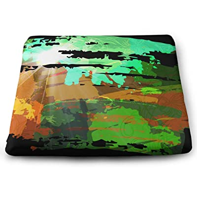 Sanghing Customized Green Watercolor 1.18 X 15 X 13.7 in Cushion, Suitable for Home Office Dining Chair Cushion, Indoor and Outdoor Cushion.: Home & Kitchen