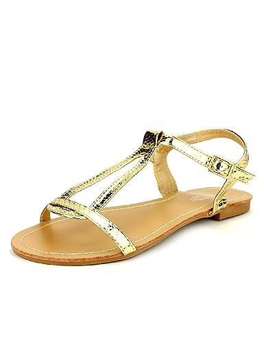 beau lustre mode en arrivant Cendriyon, Sandale dorée CINKS ME Chaussures Femme Taille 44 ...