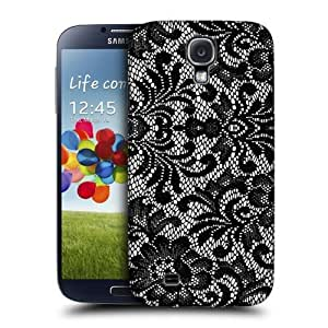 AIYAYA Samsung Case Designs Damask Black Lace Protective Snap-on Hard Back Case Cover for Samsung Galaxy S4 I9500