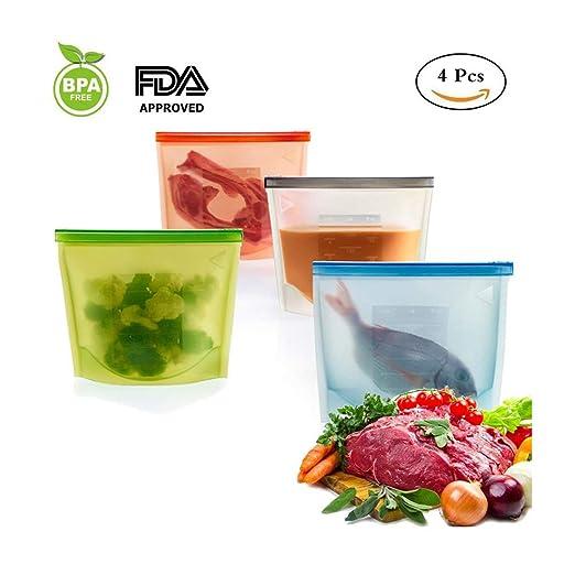 Kuke® - Bolsas de silicona reutilizables y resellables para ...