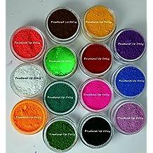 14g Grams LOT OF 14 JARS 1 gram Each Neon OXIDE Ultramarine Green Colorant Red WHITE Blue Teal ORANGE Yellow PINK Ultramarine Cp Mp Hp DIY Dye Colorants Cosmetic Soap Bath Pigment Powder