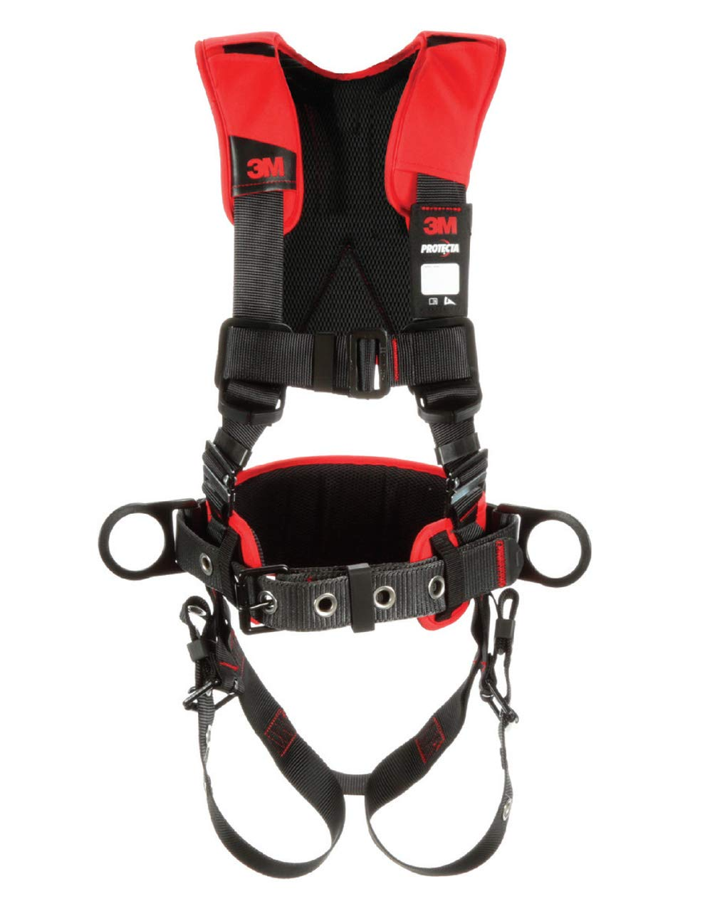 3M Protecta PRO Construction Harness, Back and Side D-Rings, 420 lb. Capacity, X-Large, 1191210 by 3M Fall Protection Business