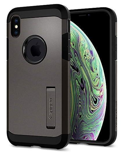Amazon.com  Spigen Tough Armor Designed for Apple iPhone Xs Case (2018)    Designed for Apple iPhone X Case (2017) - Gunmetal  Electronics cda3866e765c4