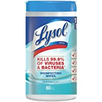 2-Pack of 80 Count Lysol Ocean Fresh Disinfecting Wipes