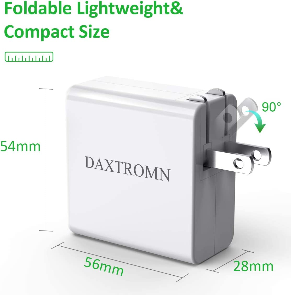 iPad Pro 2018 and More USB C Charger DAXTROMN 30W PD 3.0 Wall Charger Type C Fast Charging Power Delivery Foldable Adapter Compatible with iPhone 11 Pro Max MacBook Pro Air