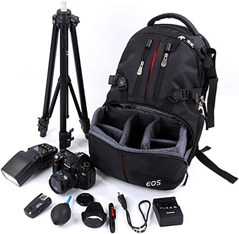 FJJ Camera Bag Backpack Waterproof Large DSLR Camera Bag with Compartments Rain Cover Outdoor Travel Camera Backpack Case