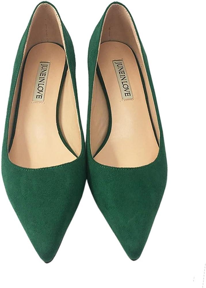 JOY IN LOVE Womens Shoes Low Heels Pointy Toe Kitten Heel Daily Pumps