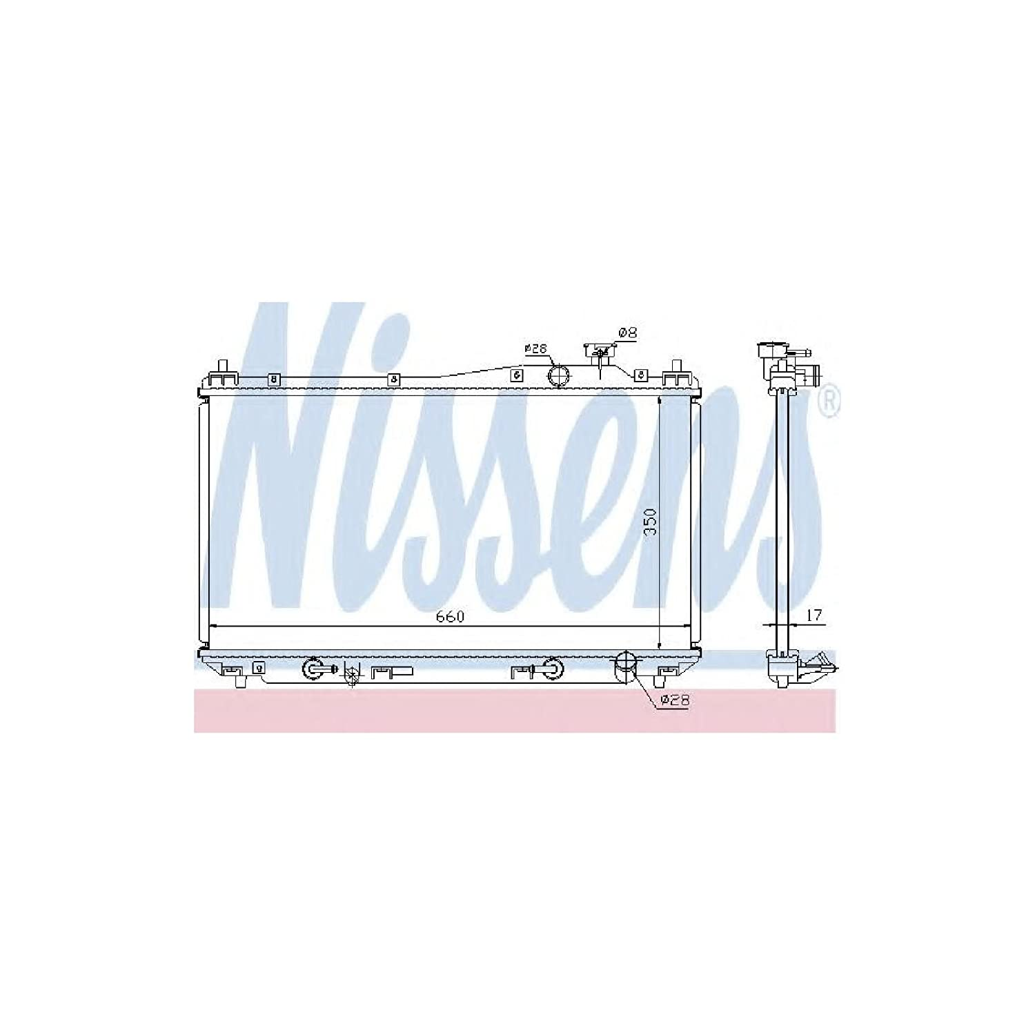 Nissens 68115 Radiator, engine cooling AutoMotion Factors Limited