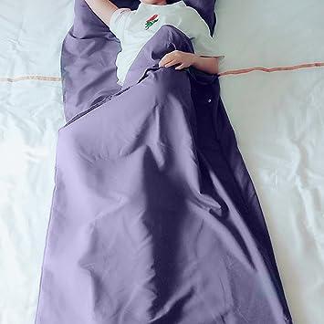Wrighteu 210 x 115 cm Ligero Portátil Hoja de Camping de Viajar Saco de Dormir para