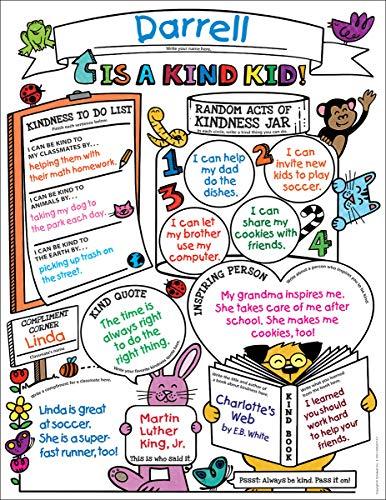 (Personal Poster Set: Classroom Kindness 3-6: 30 Fun, Fill-in Posters That Promote Classroom Kindness)