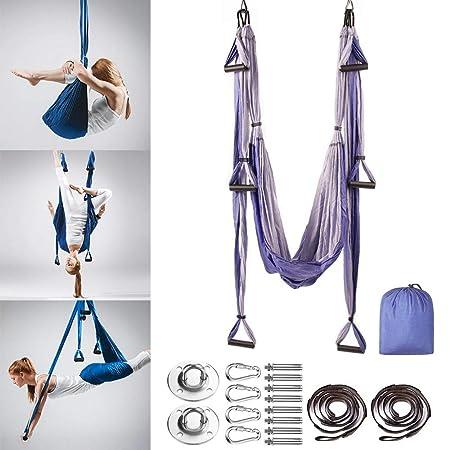 MQSS - Kit de Hamaca para Yoga (Seda), diseño de Margaritas ...