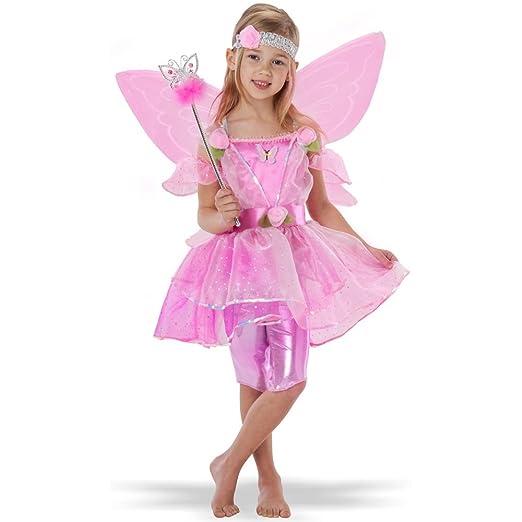 Amazon teetot princess factory girls pink flower fairy costume teetot princess factory girls pink flower fairy costume with wings and wand mightylinksfo
