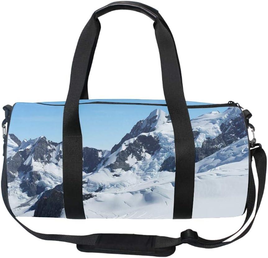 Gym Bag with Shoe Compartment Men Duffel Bag Snow Mountain Medium
