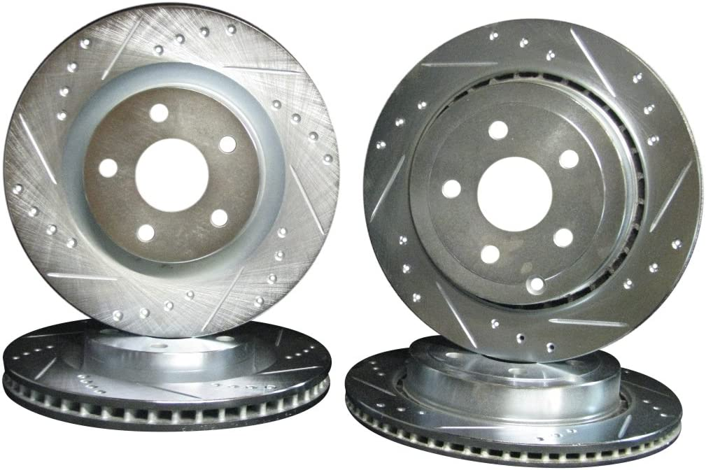 Front And Rear Rotors /& Ceramic Pads For 2008 2009 Pontiac G8 GT