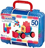 Bristle block 50 piece Basic builder case with handle by Babyland