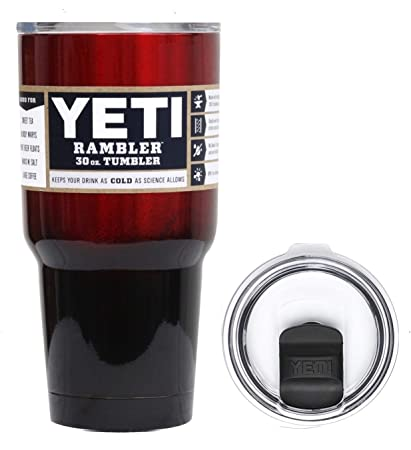 79a7d16cf93 YETI Coolers 30 Ounce (30oz) (30 oz) Custom Rambler Tumbler Insulated Cup  Mug with Spill Proof Magslider Lid (Red Black Ombré)
