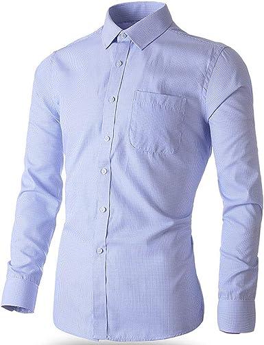 POAE Fashion - Camisa de manga larga para hombre, corte ...