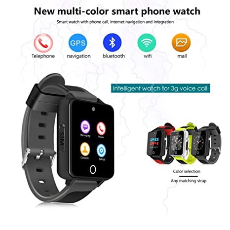 feiledi Trade - Reloj Inteligente Bluetooth 3G WiFi Quad Core Smartwatch con Ranura para Tarjeta SIM, ...