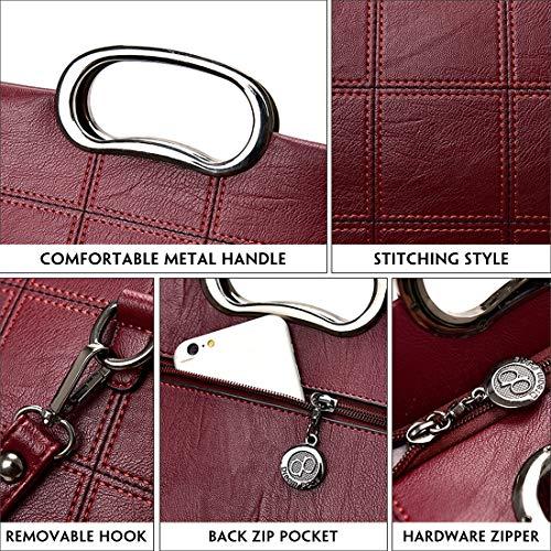 Bag Hobo PU Leather by Purse Crossbody Handbag Grey Tote Bag Women Alovhad Zipper Shoulder Fashion Hqp0I8g