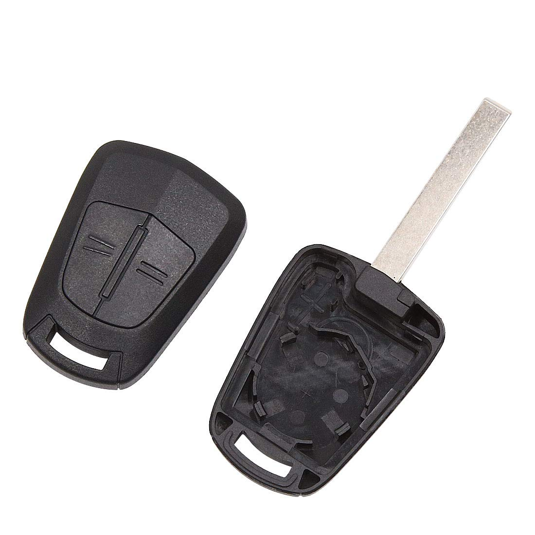 uxcell New 2 Buttons Uncut Insert Key Fob Case Remote Control Shell Replacement for Opel a18060500ux0259