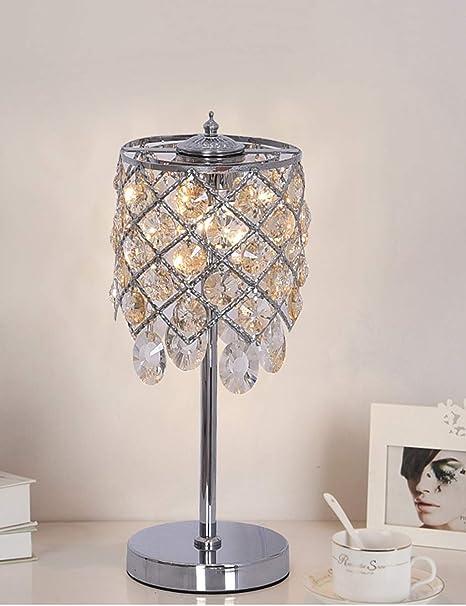 PIPIXIA Base de Metal con luz de Cristal y lámpara de Mesa - para ...
