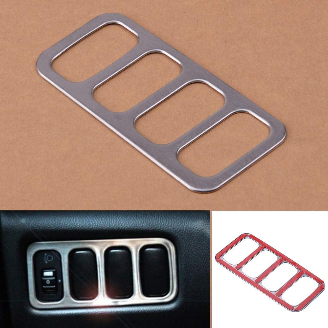 Kopf-Licht-Lampen-Schalter Button Panel Abdeckung Trim Garnieren gepasst for Mitsubishi ASX Outlander Sport RVR 2011 2012 2013 2014-2017 NO LOGO LLB-Nuts