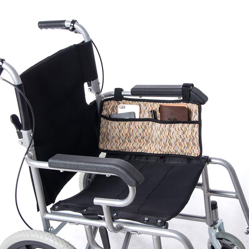 QEES GJB359 - Bolsa lateral para silla de ruedas con 6 ...