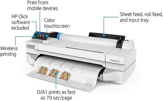 HP DesignJet T100 24-in Printer - Impresora de Gran Formato: Amazon.es: Informática
