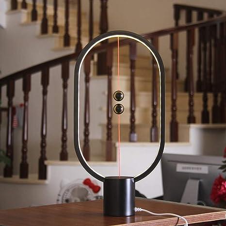Estilo moderno imán negro lámpara de mesa creativa dormitorio sala ...