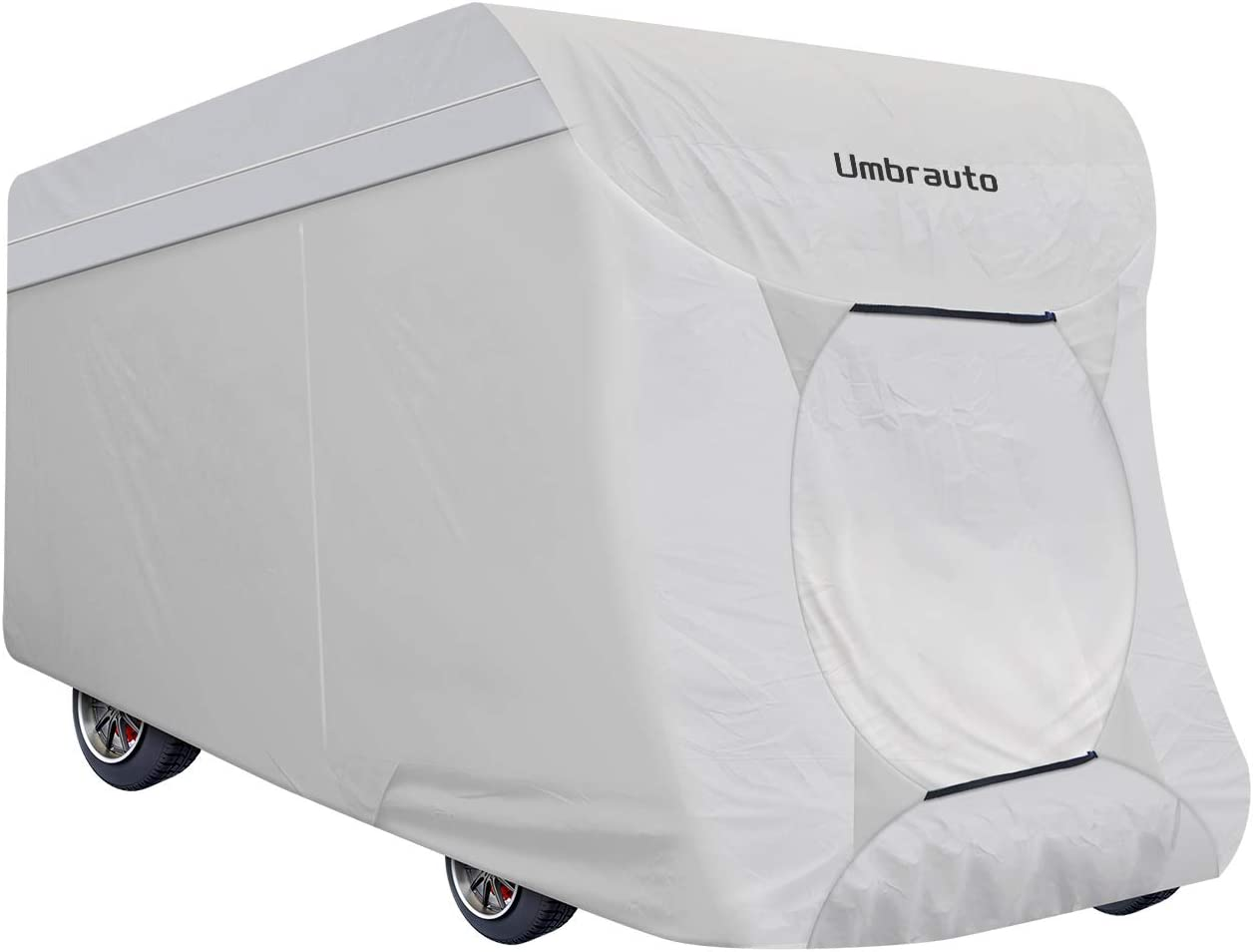 Umbrauto Class C RV Cover 3 Layers Polypro Breathable Waterproof Ripstop Anti-UV RV Motorhome Cover Fits 26Ft to 29Ft, Grey