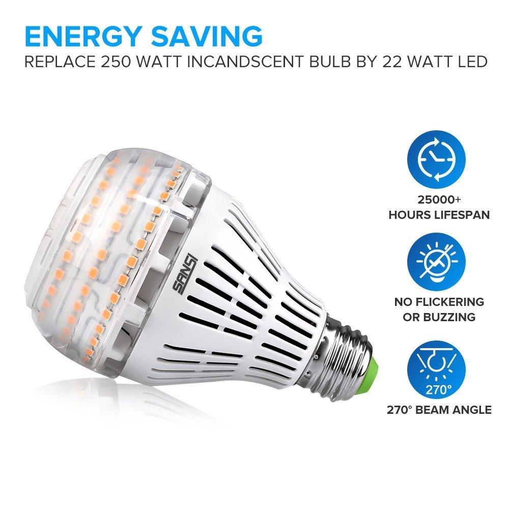200 150 watt equivalent a21 22w led light bulbs 3000 lumens 3000k warm white ebay. Black Bedroom Furniture Sets. Home Design Ideas