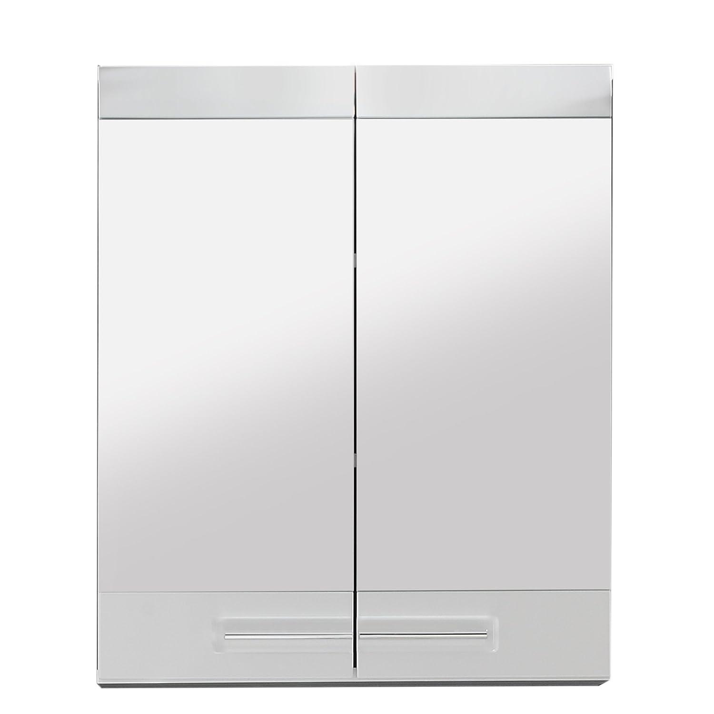 Maisonnerie 1327-503-01 Bora Armoire Miroir Murale Meuble Salle de Bain Blanc Ultrabrillant 60 x 71 x 15 cm 132750301