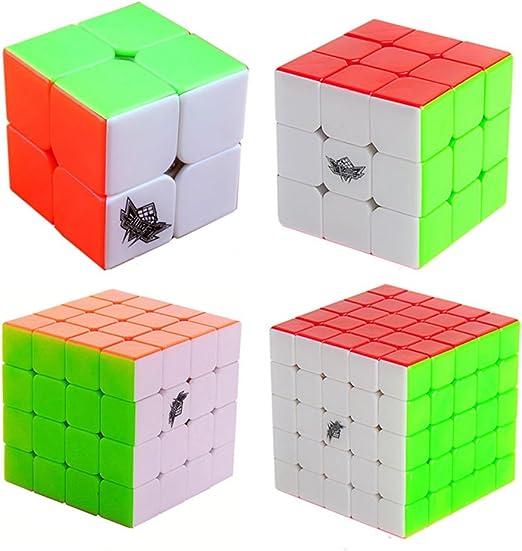 MZStech Ciclón Boys Cubo mágico Set (4 Paquetes Regulares): Amazon ...